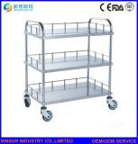 Hospital Furniture Pure Stainless Steel Multi-Function Medical Appliance Trolley