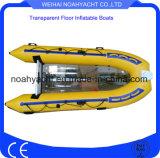 Transparent floor boats