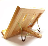 Wooden Book Recipe Book and Pad Holder