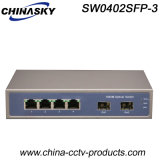 1000Mbps Network Hub with 2 SFP 4 RJ45 (SW0402SFP-3)