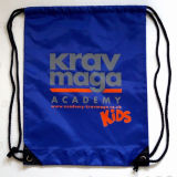 Promotional Polyester Drawstring Bag with Reflective Logo