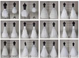 Stock Customized A Line/3hoop/6hoop/Hoopless/Short Long Crinoline Petticoat Underskirt P2016