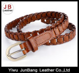 Latest Ladies′ Fashion Bonded Leather Braid Weave Belt