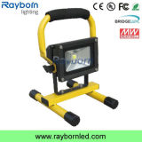 Outdoor IP65 Battery Powered Portable Rechargeable 10W LED Work Light