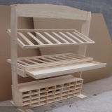 MDF Wine Display Stand/Paint Finish OEM Wooden Display Rack