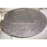 Round Shape Tan Brown Granite Tabletop for Kitchen