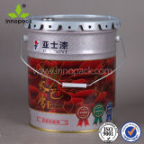 Chemical Use Metal Tin Bucket with Spout Lid
