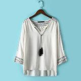 OEM 2015 Plus Size Fashion Women Embroideried Blouse