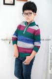 1/4 Zipper Turtleneck Striped 100% Cotton Boys Sweater