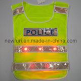 Mesh 10 LED Light up Reflective Vest for Police