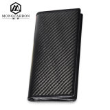 Factory Handmade Fashion Genuine Leather Wallet with Carbon Fiber