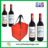 Cheap Recycle Non Woven Wine Bottle Shopping Bag