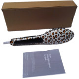 Nasv! ! ! LCD Display Leopard Print Hair Straightener Brush/Comb