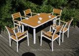 Best Selling Cheap Outdoor Patio Furniture Garden Wooden Aluminum Leisure Furniture (1+6)