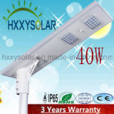 40W Integrated LED Solar Street Light with 3 Years Warranty
