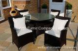London Rattan Luxury Rattan Circular Shape Dining Garden Furniture Set