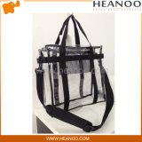Custom Beach Transparent Handbags See Through Clear Messenger Tote Bag