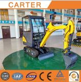 CT18-9ds (cabin&retractable chassis) Backhoe Mini Digger