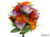 Artificial/Plastic/Silk Flower Iris/Poppy/Tulip Mixed Bush (2818014)