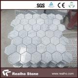 Chinese Pure White White Carrara Marble Stone Mosaic Designs