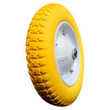 "13inch 13""X3.00-8 Flat Free PU Foam Wheel"