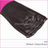 Wholesale 7PCS Set Clips in Hair Weft Human Hair Extensions