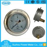 100mm Ss Case Brass Internals Pressure Gauge with Flange
