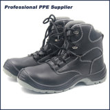 High Cut Smooth Action Leather Black Steel Safety Shoe