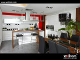 Welbom Cambodia Project Modern Lacquer Hotel Furniture Commercial Kitchen Cabinets