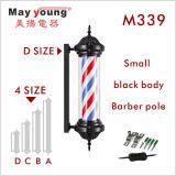 Black Body Slim Stripes Revolving Barber Pole Sign