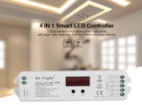 4 in 1 Smart LED Controller for Compatible with Single Color, Dual White, RGB and RGBW LED Strip
