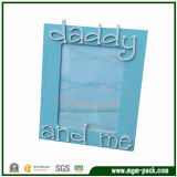 Lovely Blue Rectangle Wooden Picture Frame for Father′s Gift