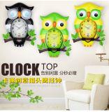 Factory Directly Cartoon Characters Owl Wall Clock, Children′s Clock