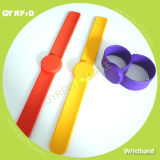 Adjustable Silicone Slap RFID/NFC Wristbands for RFID Systems