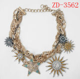 Fashion Man Thick Gold Chain Necklace with Gold Plated (Zd-3474)