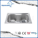 Above Counter Stainless Steel Moduled Kitchen Sink (ACS-6043)