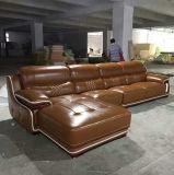 European High Quality Top Grain Leather Sofa Furniture (A15)