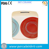 DOT Swirl Fancy Design Square Tissue Paper Box