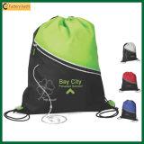 Cycling Trendy 210d Green Drawstring Backpack Bag (TP-dB091)