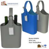 Serial PU Leather Two Bottles Wine Tote (4046R4)