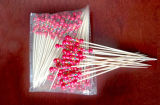 Disposable Promotional Beaded Bamboo Skewers