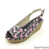 Women Lady Flower Sandals Shoes 2016sv001