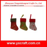 Christmas Decoration (ZY16Y200-1-2-3 14.5CM) Christmas Color Sock Christmas Decorated