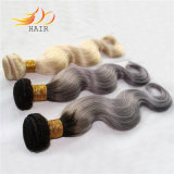 100% Vietnamese Remy Hair Two Tone Ombre Color Light Color Hair Weaving