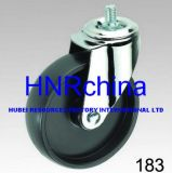 Black PP Wheel Industrial Swivel Screw Top Caster