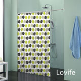 Shower Curtain Bathroom Waterproof Curtain (JG-234)