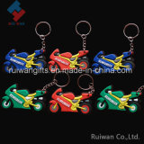 3D Motorcycle Soft PVC Keyring for Promotional Gift
