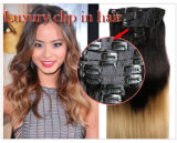 Triple Weft Clip in Hair Extension120g 140g 160g 180g 200g 220g 260g Full Head Set 18inches-24inches