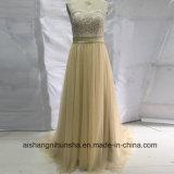 Champagne Lace Bridesmaid Dresses Long Elegant Prom Dress