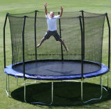 12FT Round Trampoline with Safety Enclosure for Ages 6 and up Playing
